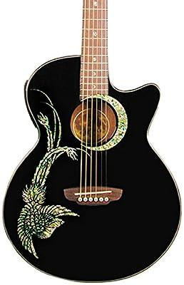 Luna Guitars Fauna Phoenix Folk Style Cutaway Acoustic-Electric Guitar,