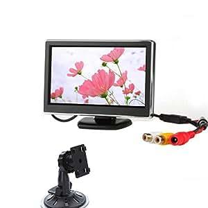 EinCar alta resoluci¨®n de 4,3 pulgadas TFT LCD en color de 2 Entrada de v¨ªdeo de la pantalla de visi¨®n trasera del monitor DVD VCR del monitor