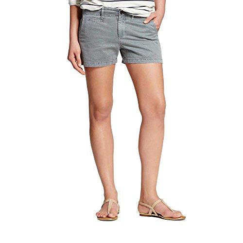 7Encounter Womens Mid-Rise Cotton Chino 3 Inch Inseam Shorts