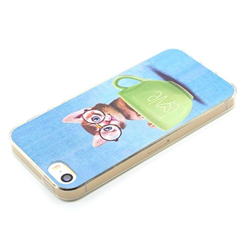 HYAIT® For IPHONE 5S/SE [XXG 17V3]Scratch-Proof Ultra Thin Rubber Gel TPU Soft Silicone Bumper Case Cover -BKI07