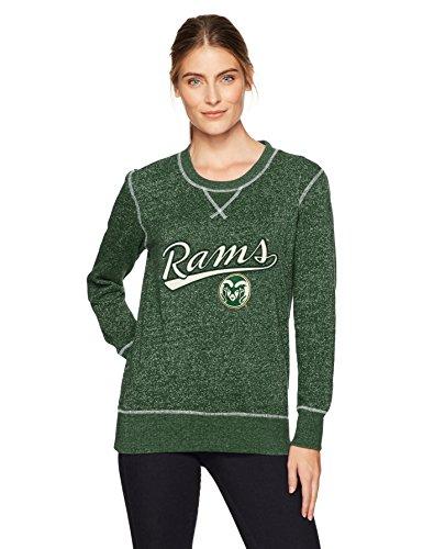 (NCAA Colorado State Rams Women's Ots Seneca Crew Neck Pullover, Medium, Dark Green)