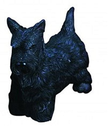 Holiday Resin Dog Ornaments by Breed for Christmas Home Decor (Black (Scottie Christmas Ornament)