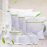 HomeSto 6Pcs / Sets Zippered Foldable Nylon Laundry Bag Bra Socks Underwear Clothes Washing Machine Protection Net Mesh Bags Fashion D25
