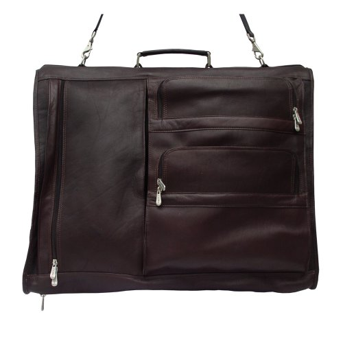 Piel Leather Executive Expandable Garment Bag, Chocolate, One Size by Piel Leather