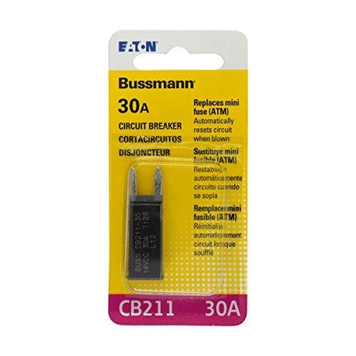 Bussmann (BP/CB211-30-RP) 30 Amp Type-I ATM Mini Circuit Breaker ()