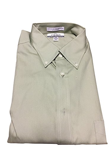 Solid Colors Ultra Pinpoint Button Down Big and Tall Dress Shirts by Damon (18.5