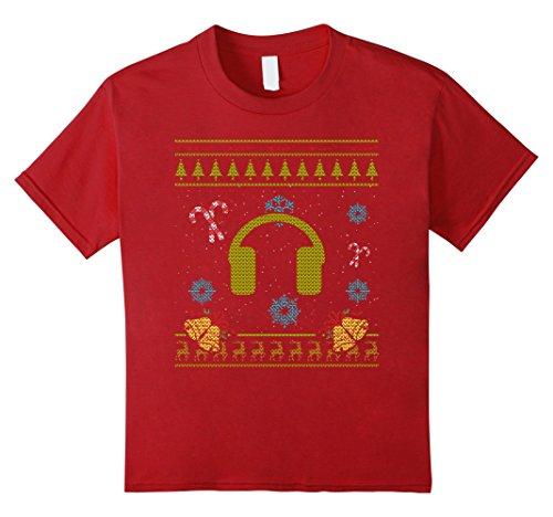 Kids House Music DJ Deejay Headphones Christmas Sweater S...