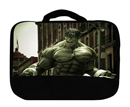 (Comic Book Hero Canvas Lunch Bag by Compass Litho)