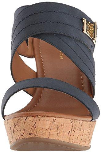 Tommy Hilfiger Women's Mili Wedge Sandal, Canella, 6 M US Navy