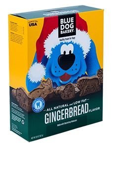 Blue Dog Bakery Natural Low Fat Dog Treats, Gingerbread, 20 Oz (1 Box) (Dog Bakery Low Fat)