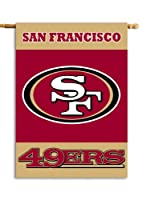 NFL San Francisco 49Ers 2-Sided 28-by-40-Inch House Banner