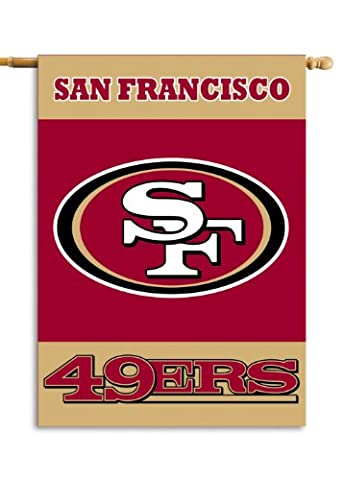 NFL San Francisco 49Ers 2-Sided 28-by-40-Inch House Banner - San Francisco 49ers Nfl Football