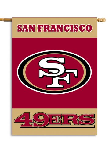 Fremont Die NFL San Francisco 49Ers 2-Sided 28-by-40-Inch House Banner