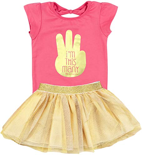Fayfaire 3rd Birthday Shirt Outfit: Boutique Quality Third Bday I'm This Many 3T