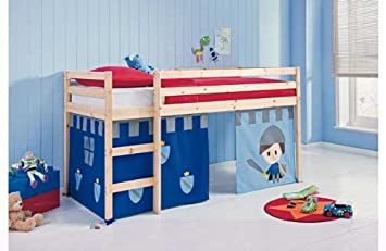 Fun Shorty Mid Sleeper Bed Frame With Blue Tent Amazon Co Uk