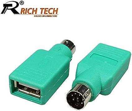 Adaptador USB macho a PS//2 hembra para rat/ón//teclado ILS