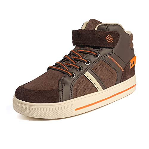 DREAM PAIRS Boys 151014_H Athletic Sneaker High Top Shoes Brown Orange Size 6 M US Toddler -