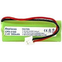 Vtech LS6115-2 Cordless Phone Battery Ni-MH, 2.4 Volt, 500 mAh - Ultra Hi-Capacity - Replacement for vTech 89-1337-00-00, BT18443, BT28443 Rechargeable Battery