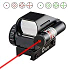 CVLIFE 1x22x33 Reflex Sight Red and Green 4 Reticle Dot Sight with 2mW