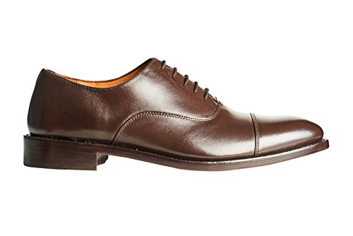 Anthony Veer Heren Clinton Cap-toe Oxford Volnerf Lederen Schoen In Goodyear Welted Constructie Bruin