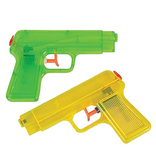 6 Inch Water Pistols - Water Guns - 2 Pack -