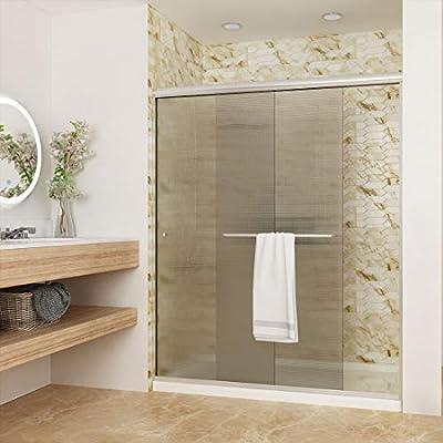 Elegant Shower Semi-Frameless Bypass Sliding Glass Bathtub Doors Shower Screen