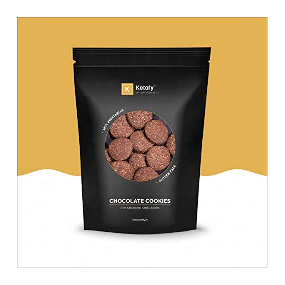 Ketofy - Chocolate Keto Cookies (500g) | Chocolate Flavoured Keto Cookies