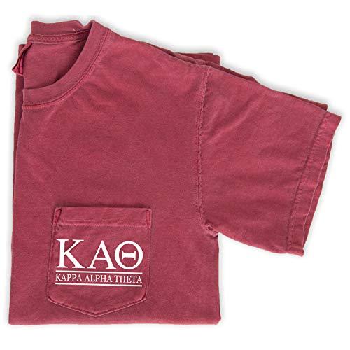 (Kappa Alpha Theta Block Letters Shirt (Medium))