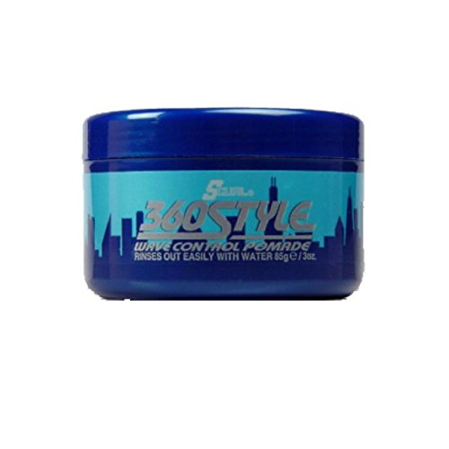 Wave Control Pomade - Luster's S-Curl 360 Style, Wave Control Pomade 3 oz (Pack of 12)