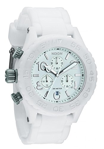 Nixon Rubber 42-20 Chrono Watch – Men Women White, One Size