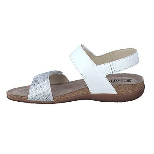 MEPHISTO scarpe SANDALO DONNA AGAVE SILK+SAVANA 7830+12968 WHITE PE17