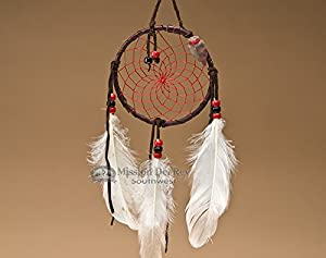 "Native American Dream Catcher 4"" -Red"