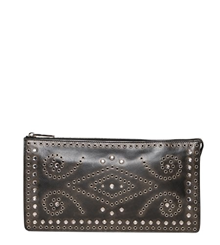Prada 普拉达Women's Vintage Embellished Clutch Brown
