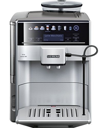 Siemens EQ.6 TE603201RW Super Fully Automatic Espresso Machine, Coffee Capuccino Latte Maker, OneTouch DoubleCup System, SIlver