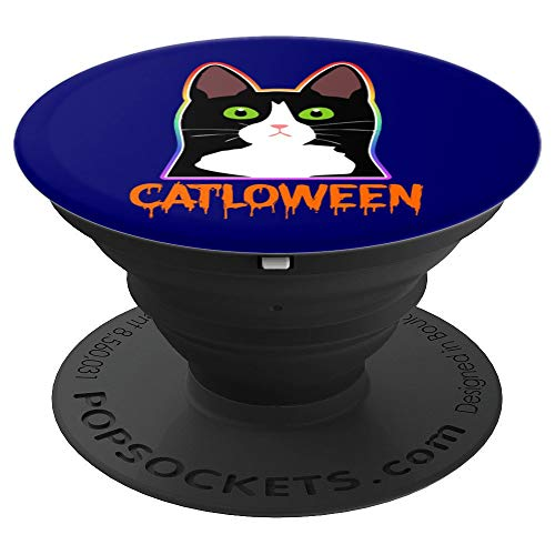 Halloween Costume Funny Feline Cat PopSockets Grip and