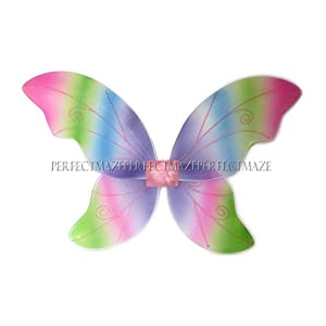 Perfectmaze Large Adult 34″x24″ Glitter Fairy Butterfly Pixie Dance Wings – 7 Colors