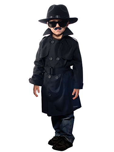 [Jr. Secret Agent Costume - Small] (Jr Secret Agent Kids Costumes)