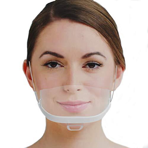 Mascherina plastica - schermi facciali in plastica bianca antivirus lavabili e riutilizzabili- 10 pezzi urhome 1043.0002