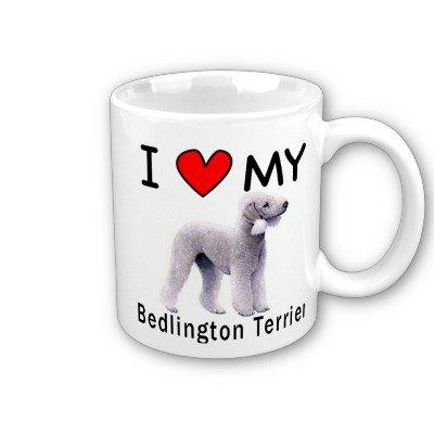 (I Love My Bedlington Terrier Coffee Mug )
