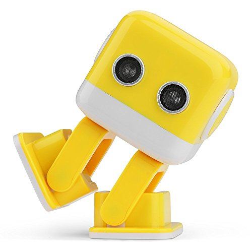 WomToy 1602495 RC Robot, Remote Control Intelligent Educational Electronic Smart Robot with APP Programming, Bluetooth Audio, and LED Light for Kids Entertainment Learning (Yellow) - Yellow Robot