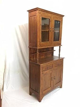 Mobile Anrichte Kolonial Möbel Ethnic Küche Vitrine Buffet Vintage