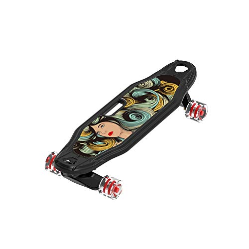 Complete Longboard Double Kick Skate Board Cruiser, for Teens, Beginners, Girls,Boys,Kids,Adults,D