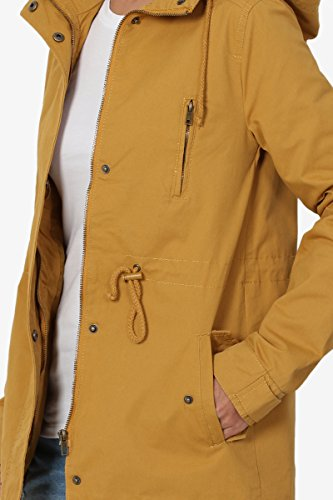TheMogan Junior's Washed Twill Hooded Utility Anorak Jacket Mustard M by TheMogan (Image #5)