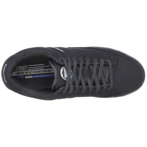 Skechers ArcadeChat 51033 GRY - Zapatillas de ante para hombre Negro