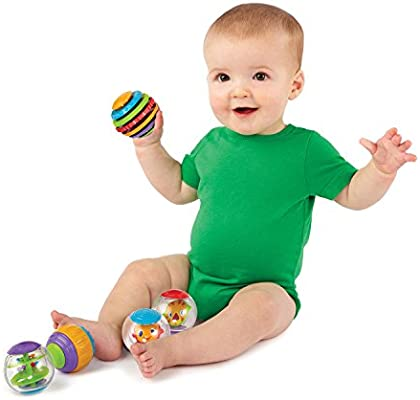 Bright Starts Shake /& Spin Activity Balls ** GREAT FUN **