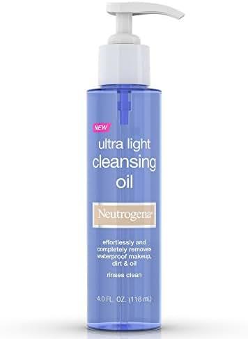 Neutrogena Ultra Light Cleansing Oil & Makeup Remover, 4 Fluid Ounce