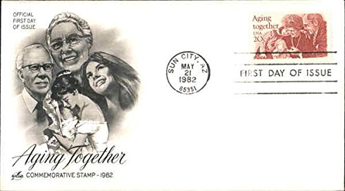 Aging Together - Commemorative Stamp 1982 Original First Day Cover -