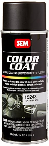 SEM Products 15243 Satin Black Color Coat - 12 oz.