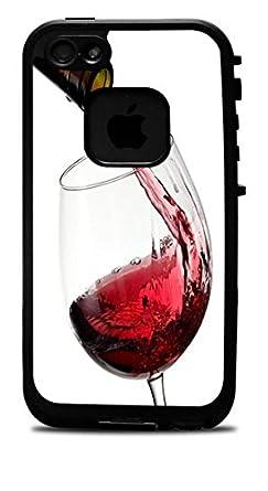 Amazon.com: Vino tinto vidrio y botella de vinilo calcomanía ...