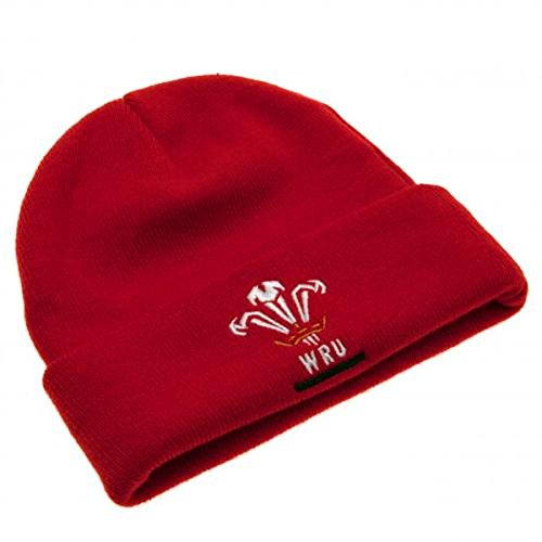 Official Wales Rugby Beanie Hat - Welsh Rugby Union Hat - Officially  Licensed  Amazon.co.uk  Clothing 1d74458c8656